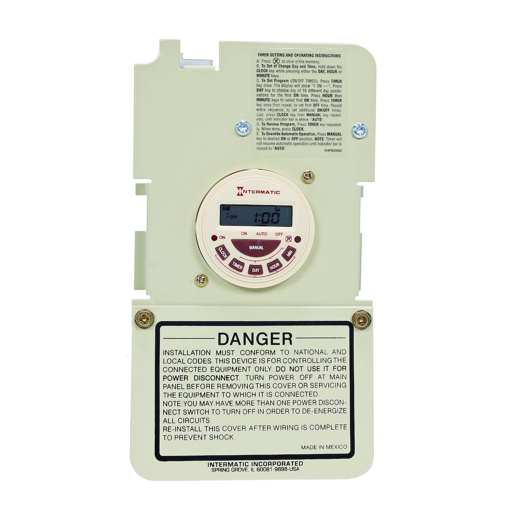 7-Day Electronic Time Switch Mechanism - Mechanism Only redirect to product page