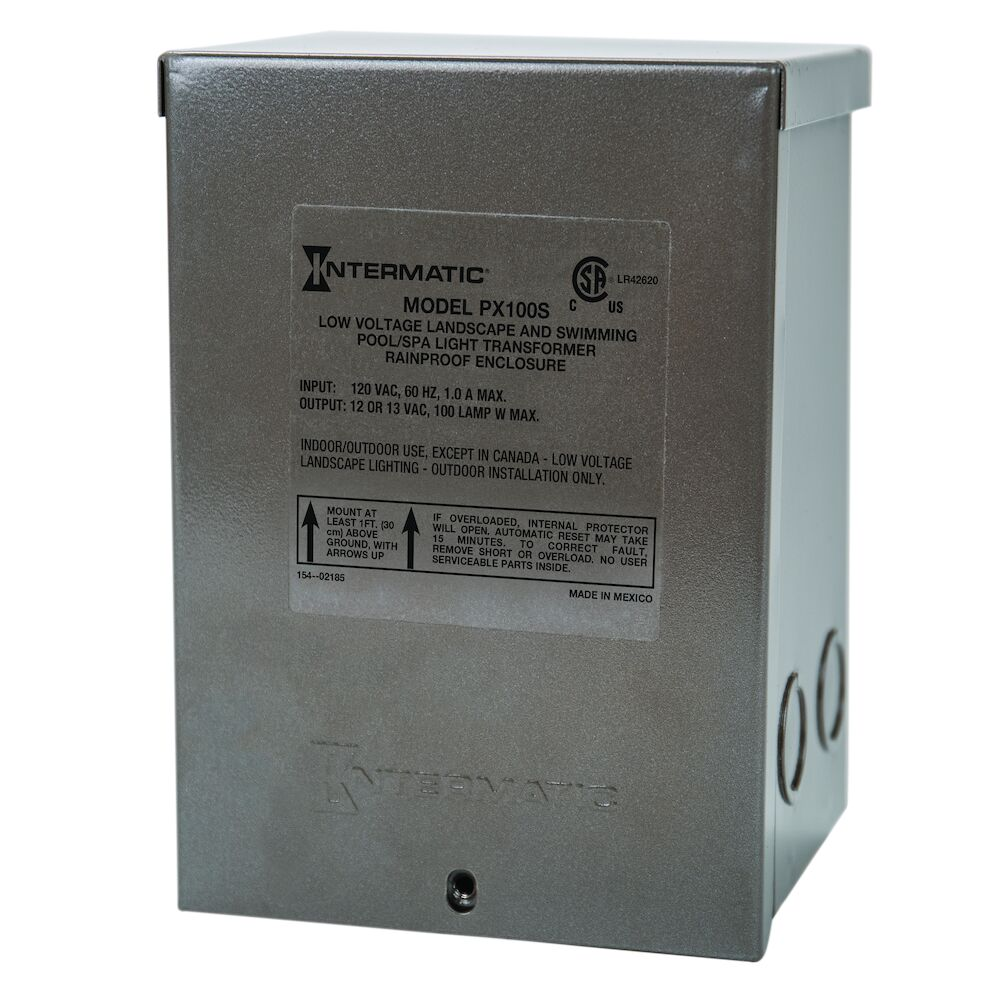 100 W Pool & Spa Safety Transformer, Stainless Steel Enclosure, Input 120V, Output 12,13,14V redirect to product page