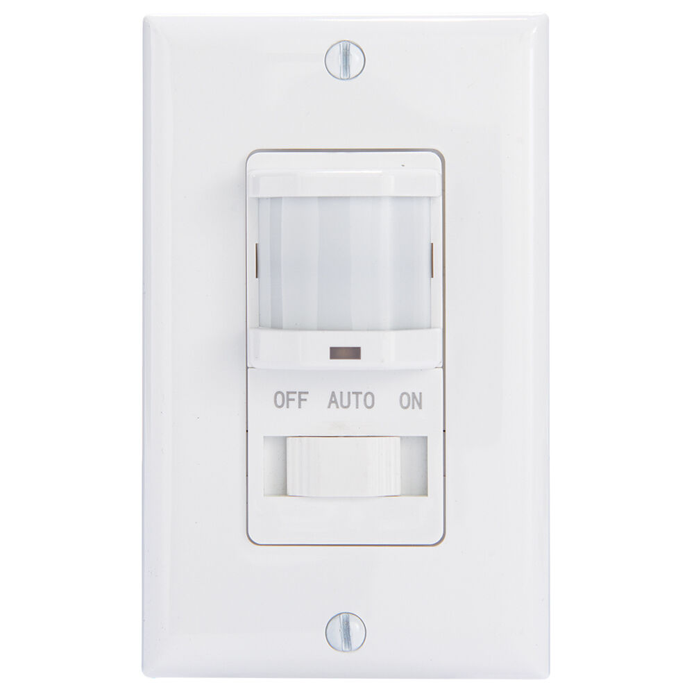 Residential In-Wall PIR Occupancy Sensor, No Neutral Required, White redirect to product page