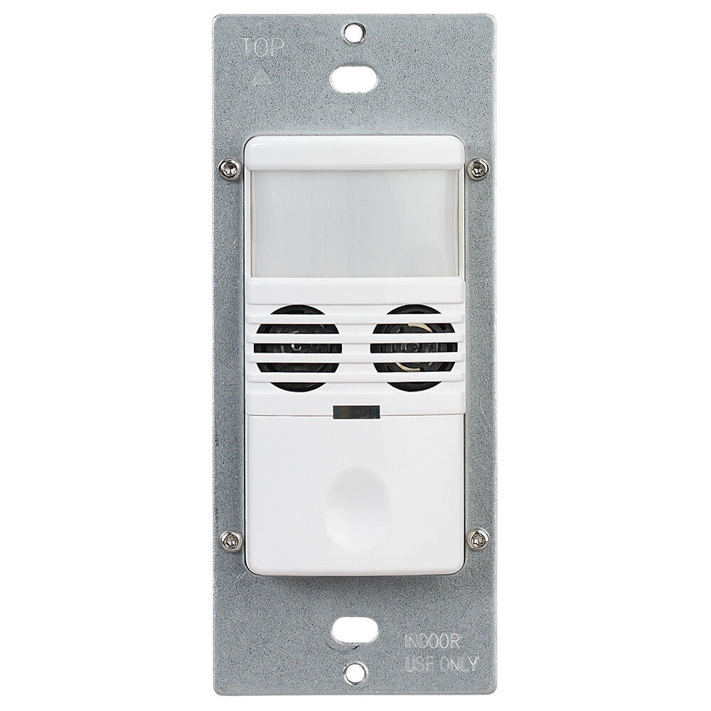 Commercial Grade In-Wall Dual Tech Occupancy/Vacancy Sensor, White redirect to product page