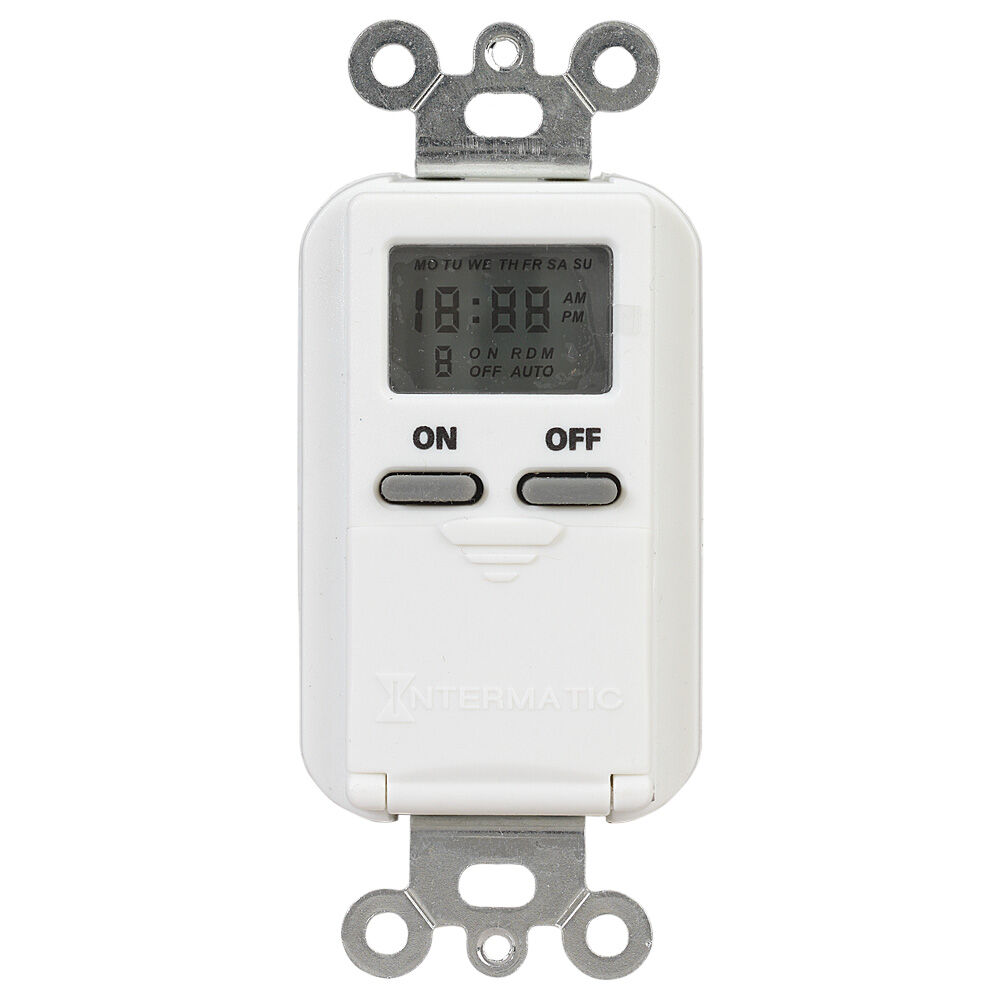 7-Day Standard Programmable Timer, 125 VAC, 15A, White redirect to product page
