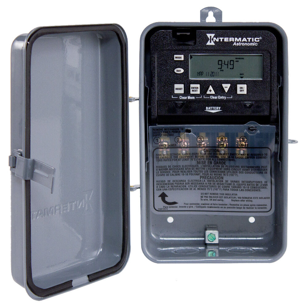 Astronomic 7-Day 1-Circuit Electronic Control, 120-277 VAC, 60 Hz, SPDT, Outdoor Metal Enclosure redirect to product page