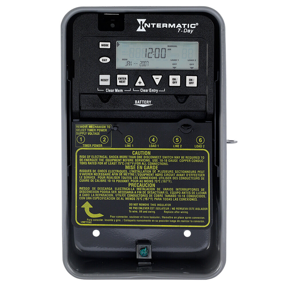 7-Day 2-Circuit Electronic Control, 120-277 VAC, 60 Hz, 2-SPST, Outdoor Metal Enclosure redirect to product page