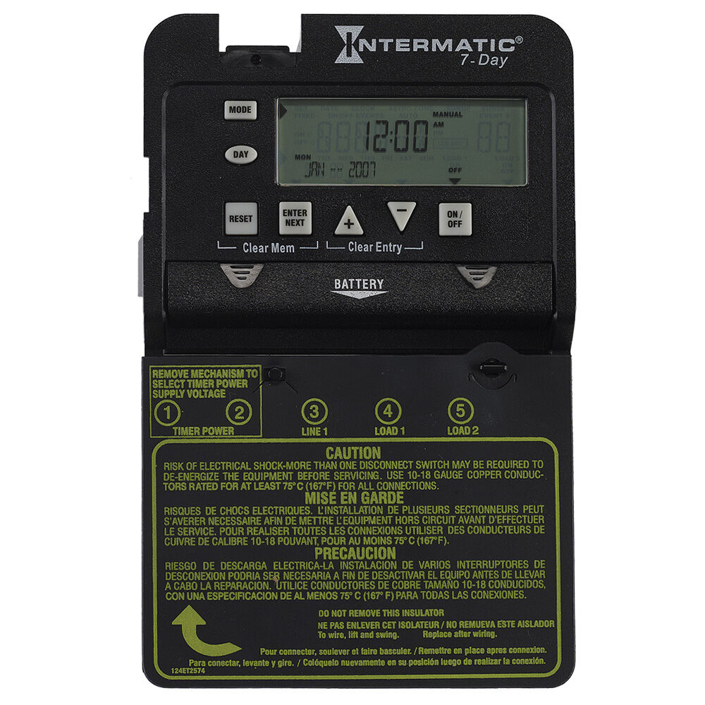 7-Day 1-Circuit Electronic Control, Mechanism Only, 120-277 VAC, 60 Hz, SPDT redirect to product page