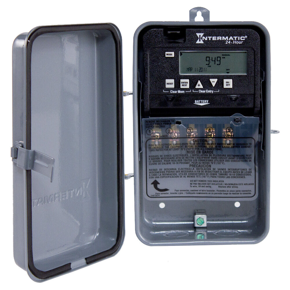 24-Hour 1 Circuit Electronic Control, 120-277 VAC, 60 Hz, SPDT, Outdoor Metal Enclosure redirect to product page