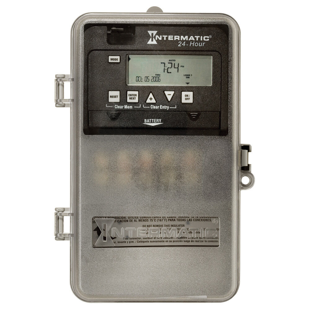 24-Hour 1-Circuit Electronic Control, 120-277 VAC, 60 Hz, SPDT, Indoor/Outdoor Plastic Enclosure redirect to product page