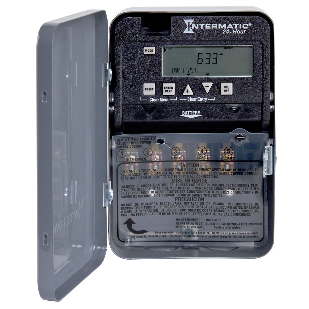 24-Hour 1 Circuit Electronic Control, 120-277 VAC, 60 Hz, SPDT, Indoor Metal Enclosure redirect to product page