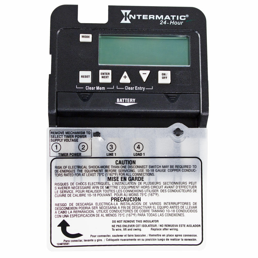24-Hour 1 Circuit Electronic Control, Mechanism Only, 120-277 VAC, 60 Hz, SPST redirect to product page