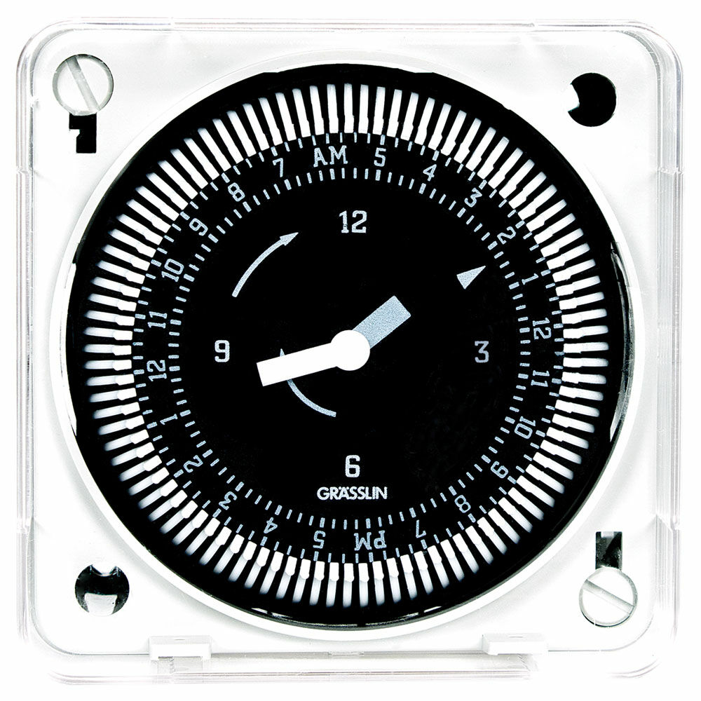 24-Hour 208/240V Electromechanical Flush Mount Timer Module, 15 Minute Intervals, 21A, SPDT redirect to product page