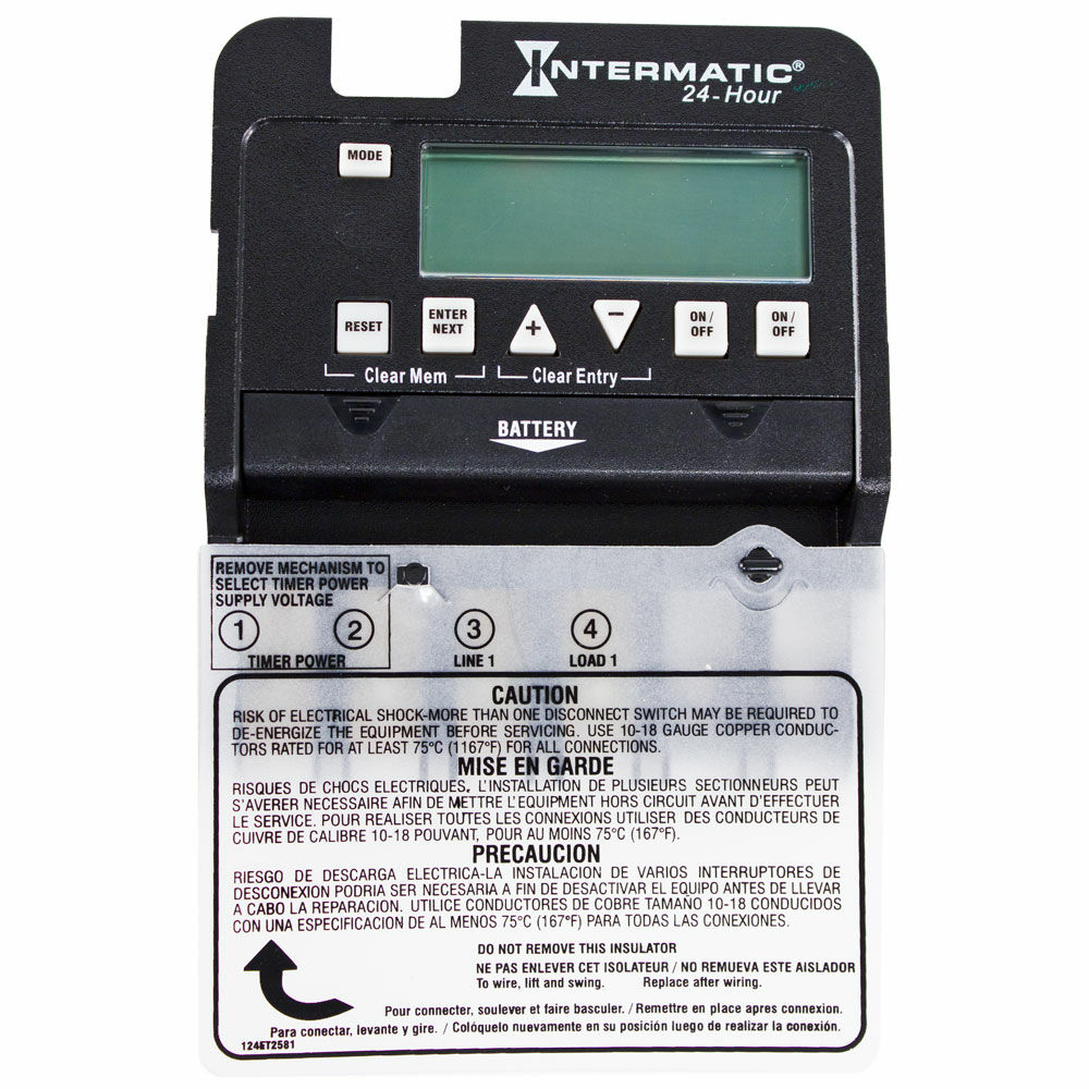 24-Hour 2-Circuit Electronic Control, Mechanism Only, 120-277 VAC, 60 Hz, 2-SPST redirect to product page
