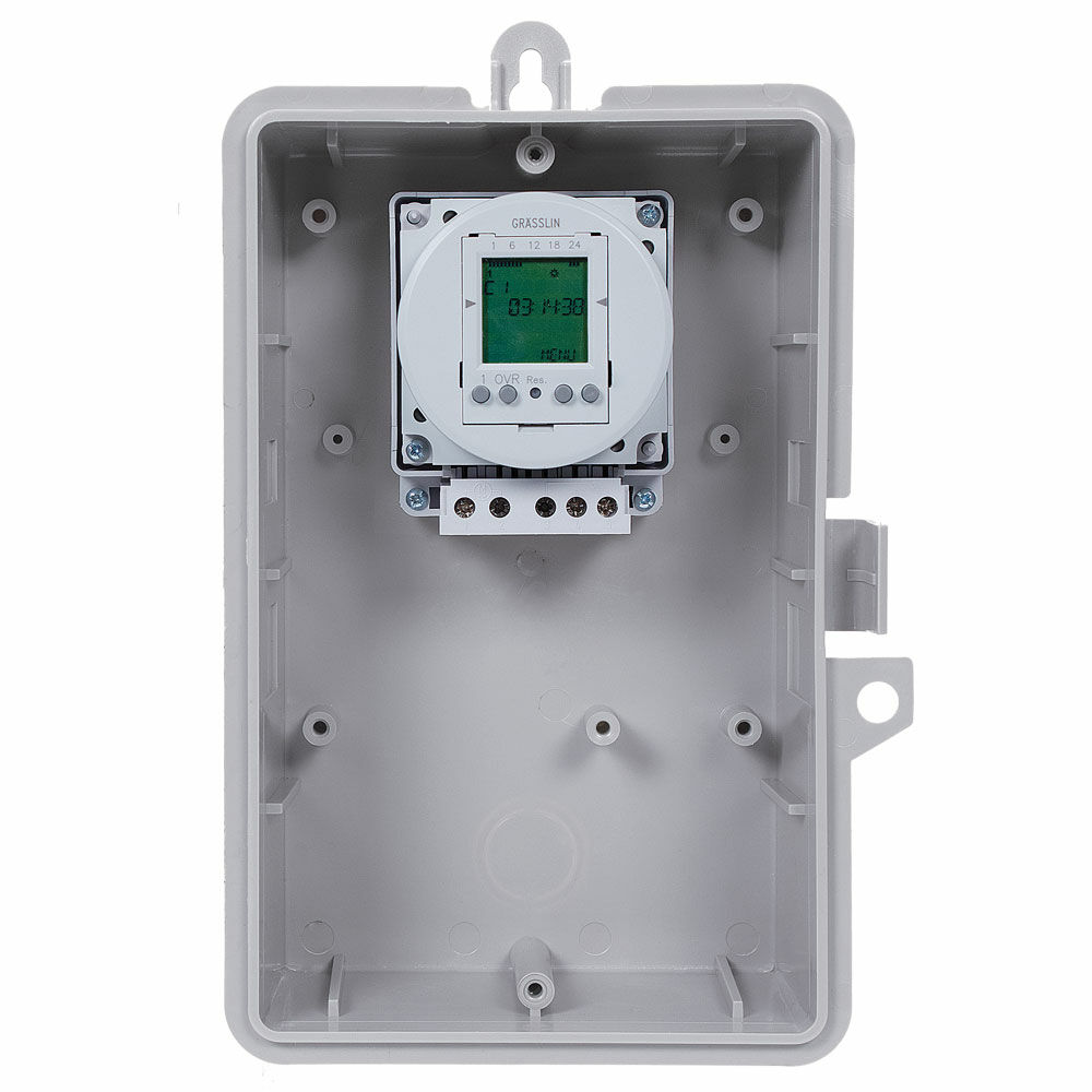 24-Hour or 7-Day 120V Electronic Time Control, 16A, 50 Setpoint Programs, SPDT, Type 3R Outdoor Plastic Enclosure redirect to product page