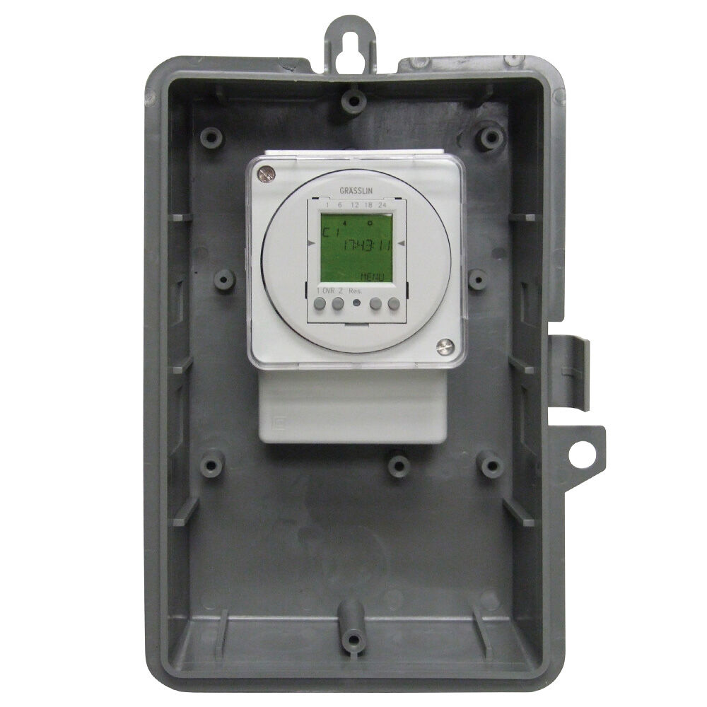 24-Hour or 7-Day 120V Electronic Time Control, 16A, 50 Setpoint Programs, 2-SPDT,Type 3R Outdoor Plastic Enclosure redirect to product page
