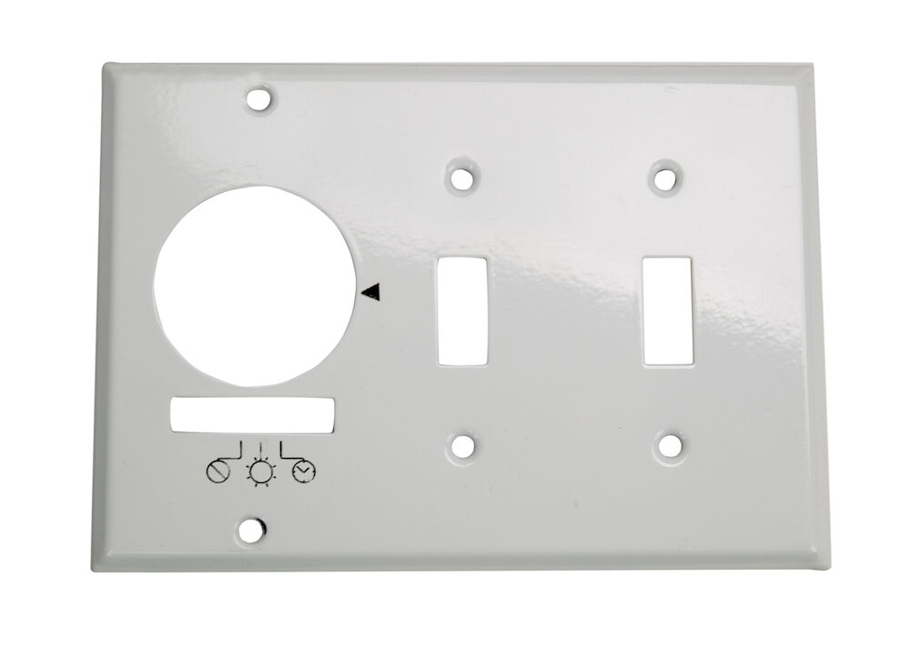 Wall Plate for KM2ST-3G, 3 Gang (Timer and 2 Toggle Switches), White redirect to product page