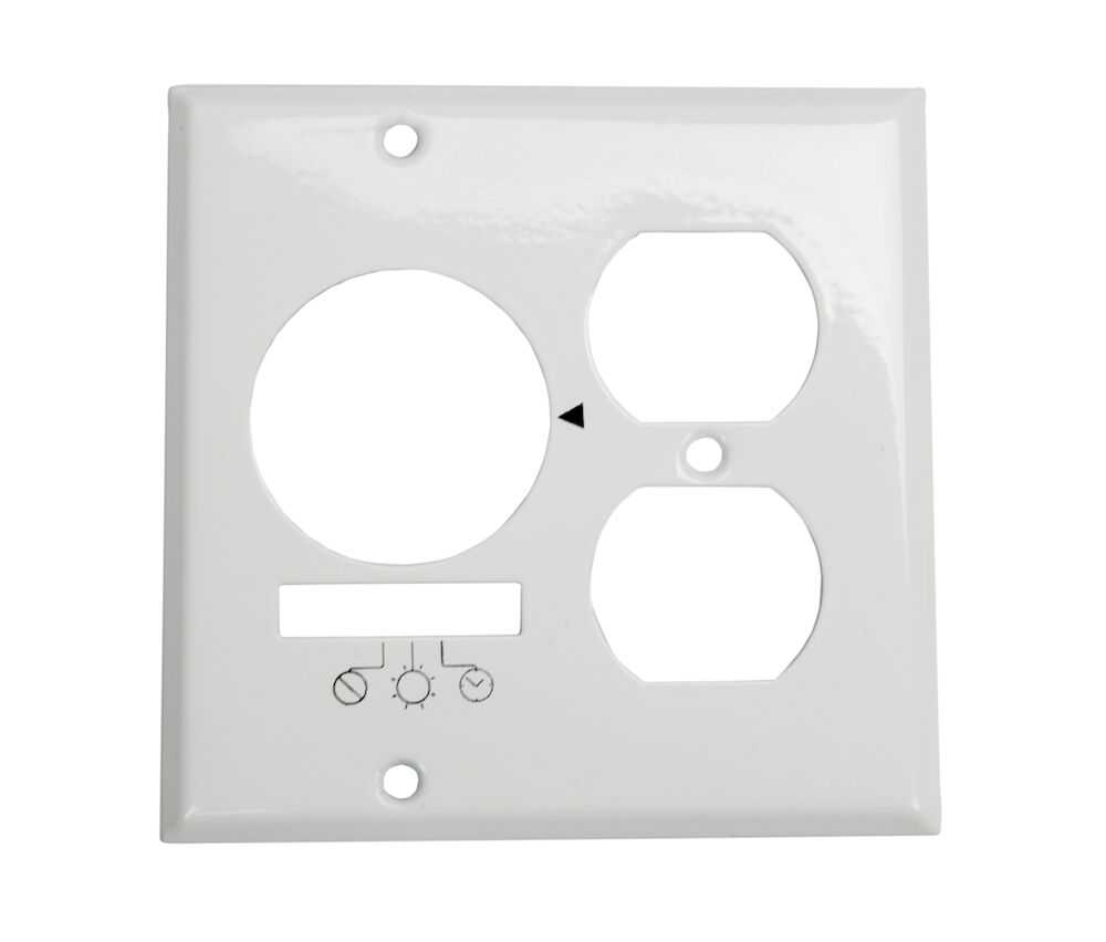 Wall Plate for KM2ST-2R, 2 Gang (Timer and Receptacle), White redirect to product page