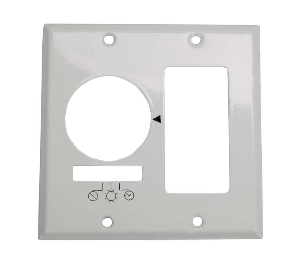 Wall Plate for KM2ST-2D, 2 Gang (Timer and Decorator Switch), White redirect to product page