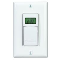 7-Day Heavy-Duty Programmable Timer, 120-277 VAC, 15A, White
